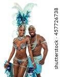 image of dance couple in samba...   Shutterstock . vector #457726738