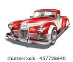vintage car | Shutterstock .eps vector #457728640