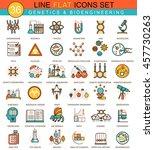 vector genetics and... | Shutterstock .eps vector #457730263