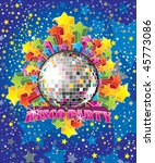 vector disco party illustration | Shutterstock .eps vector #45773086