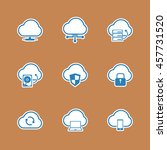 cloud computer icons set. | Shutterstock .eps vector #457731520