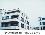 modern apartment buildings with ... | Shutterstock . vector #457731748