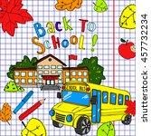 back to school illustration.... | Shutterstock . vector #457732234