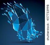 perspective technology...   Shutterstock . vector #457733998