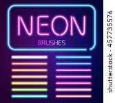 Neon Brushes Set. Set Of...