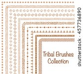hand drawn ethnic brushes....   Shutterstock .eps vector #457736890