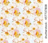 seamless pattern with white... | Shutterstock .eps vector #457737808