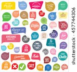 modern badges and labels... | Shutterstock .eps vector #457744306