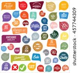 modern badges and labels... | Shutterstock .eps vector #457744309