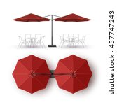 Vector  Red  Blank Patio Doubl...