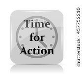 time for action icon. internet... | Shutterstock . vector #457753210