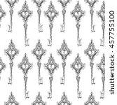 seamless texture. vintage keys. ... | Shutterstock .eps vector #457755100