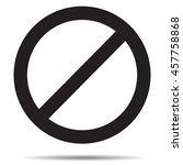 ban symbol template. black ban... | Shutterstock .eps vector #457758868