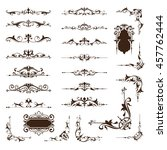 ornamental design borders and... | Shutterstock .eps vector #457762444