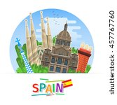concept of travel to spain or... | Shutterstock .eps vector #457767760