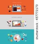 web development flow. banner... | Shutterstock .eps vector #457772173