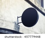 signboard shop mock up circle... | Shutterstock . vector #457779448