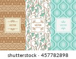 vector set of design elements ... | Shutterstock .eps vector #457782898