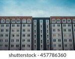 old plattenbau building of ddr... | Shutterstock . vector #457786360