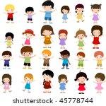 happy kids | Shutterstock .eps vector #45778744