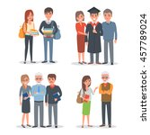 people characters collection ... | Shutterstock .eps vector #457789024