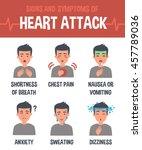 heart attack vector infographic.... | Shutterstock .eps vector #457789036