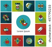 chinese new year icons set | Shutterstock .eps vector #457790233
