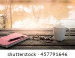 morning lifestyle scene. pen ... | Shutterstock . vector #457791646