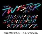 vector of hand writing font and ... | Shutterstock .eps vector #457792786