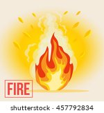 symbol of cartoon fire. vector...