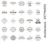 set of vintage retro logotype... | Shutterstock .eps vector #457796593