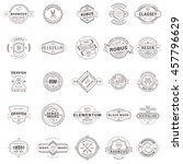 set of vintage retro logotype... | Shutterstock .eps vector #457796629