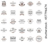 set of vintage retro logotype... | Shutterstock .eps vector #457796674