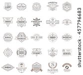set of vintage retro logotype... | Shutterstock .eps vector #457796683