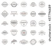 set of vintage retro logotype... | Shutterstock .eps vector #457796689