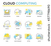 cloud computing concept icons ... | Shutterstock .eps vector #457798690