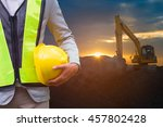 engineer or safety officer... | Shutterstock . vector #457802428