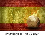 grunge flag of spain and ball   Shutterstock . vector #45781024