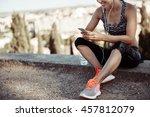 young active female having... | Shutterstock . vector #457812079