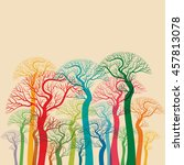 autumn abstract tree forest | Shutterstock .eps vector #457813078