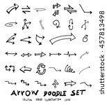 vector hand drawn arrows set | Shutterstock .eps vector #457813498