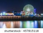Santa Monica Beach At Night...