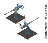 isometric air defense gun | Shutterstock .eps vector #457815538