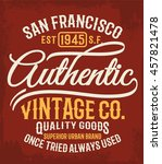 vintage typography  t shirt... | Shutterstock .eps vector #457821478