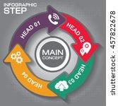 4 steps arrow infographic... | Shutterstock .eps vector #457822678