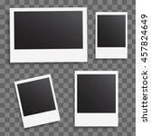 photo frames on a transparent... | Shutterstock .eps vector #457824649