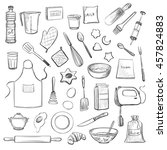 collection of vector drawings.... | Shutterstock .eps vector #457824883