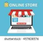online store concept. set icons.... | Shutterstock .eps vector #457828576