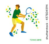 tennis in the colors of the... | Shutterstock .eps vector #457834594