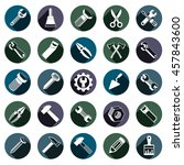 highly detailed work tools... | Shutterstock . vector #457843600